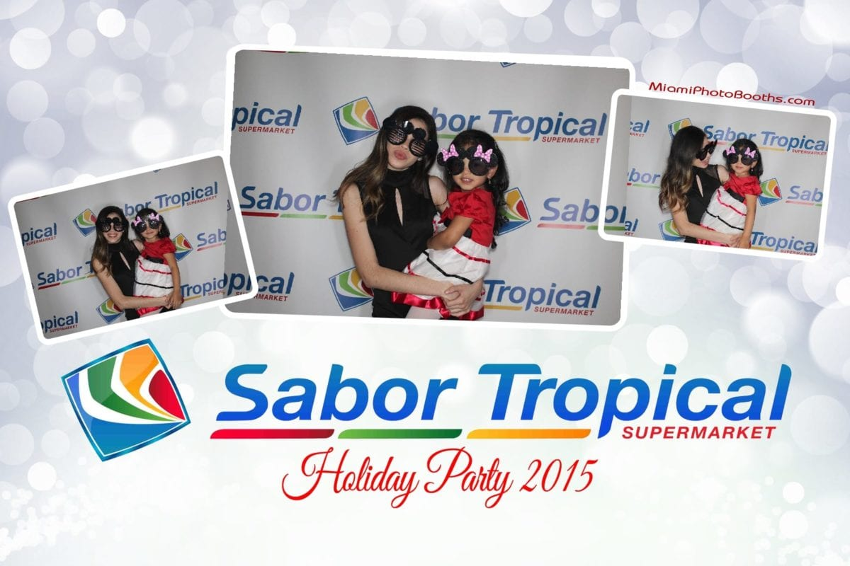 miami photo booth sabor tropical supermarket holiday party miami